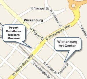Map of the Wickenburg art Center